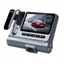 1080P HD Car DVR Bluetooth Camera Recorder Wireless Headset