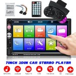 25722 7023B 7'' Double DIN Car FM Stereo Radio MP5 Player Touch Screen