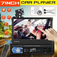 7'' 1 DIN Android 8.1 Car MP5 Stereo Player Bluetooth WiFi GPS AUX Video Camera