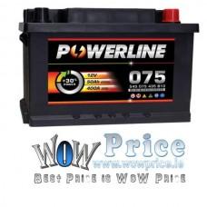 Powerline 075  Car Battery 12V fits many Audi Chevrolet Chrysler Ford