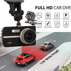 Car DVR  HD 1080P Dual Lens Video Recorder Rear Camera Dash Cam + 16GB SD Card
