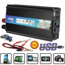 Inverter 1000W Peak Power DC 12V AC 220V USB