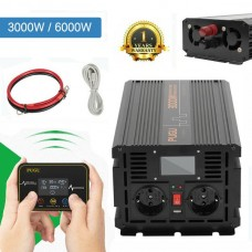 26711  Inverter 3000W to 6000W Pure Sine Wave Power DC converter LCD + Digital Remote Control