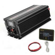 26822 Inverter 1500W to 3000W Pure Sine Wave Power DC converter LCD + Digital Remote Control