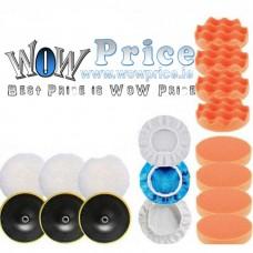 26743 Car Polisher Self Adhesive Disk Wool - Wave - Flat Pads  Kit