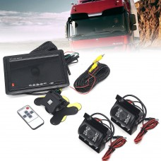 "25944 Car Buses Trucks Rear View Kit 2 Reverse Camera Plus 7"" Monitor"
