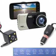 25211 4 inch Dual Lens Camera Car DVR Video Recorder G-Sensor