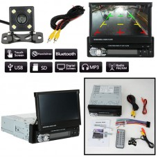 1 DIN 7 HD Touch Screen Car MP5 DVD Player Bluetooth Radio Plus Camera
