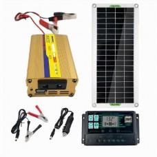 250111 20W Solar Panel battery Charger 100A LCD Controller Caravan Van Boat