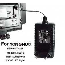 Yongnuo AC Adapter Power Supply Charger for YN160 III YN168 YN216 YN360 YN300 Air LED