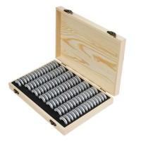 100 Coin Storage Wooden Box