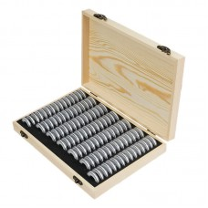 100 Coin Storage Wooden Box