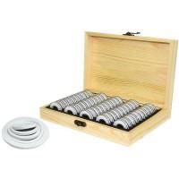 50 Coin Storage Wooden Box