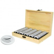 50 Coin Storage Wooden Box