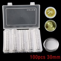Coin 100Pcs 30mm Coin Holder