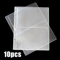 10Pcs Note Banknotes Currency 2-Pocket Holder Page