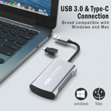 38223 4K HD 1080P 60fps HDMI Video Capture Card USB 3.0 Mic Game Record Live Streaming