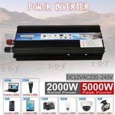 2000W Car Power Inverter DC 12V To AC220V Sine Wave Converter