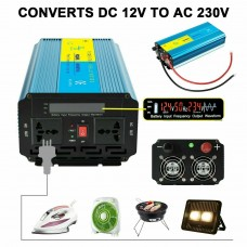 251022 Inverter 1500W to 3000W Pure Sine Wave Power DC converter LCD