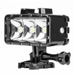 40m Waterproof 3 LED Diving Light for Gopro Hero 7 6 5