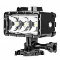 40m Waterproof 3 LED Diving Light for Gopro Hero 7 6 5