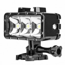 21533 40m Waterproof 3 LED Diving Light for Gopro Hero 7 6 5