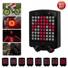 Bicycle Rear Tail Laser LED Indicator Turnning Signal Remote Control