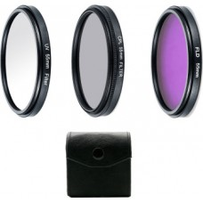 17261 Choose Size Lens Filter Kit FLD UV CPL