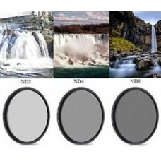 17262 49-82mm ND2 ND4 ND8 Neutral Density ND Lens Filter Kit