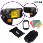 Selens Magnetic Flash Honeycomb Grid Grip Colour Gels Filter