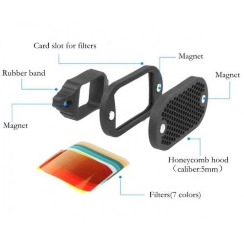 Selens Magnetic Flash Honeycomb Grid Grip Colour Gels Filter