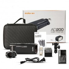 Godox AD200 TTL HSS 2.4G 1/8000 Wireless Pocket Double Head Flash