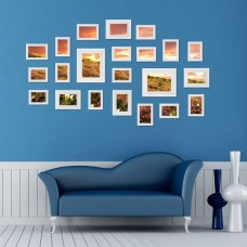 23PCS Multi Home Photo Picture Frames Set Wall Decor Present White