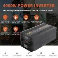 26823 Inverter 4000W to 8000W Pure Sine Wave Power Voltage Converter 12V 230V