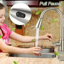 Modern Kitchen Sink Mixer Taps Swivel Spout Single Handle Tap