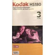 KODAK HS180 Minute BLANK VHS VIDEO CASSETTE TAPES High Standard 3 Hour