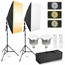 45331 85W Dimmable LED Softbox Diffuser Stand Kit