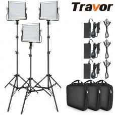 3in1 LED L4500 Dimmable Video Light Studio Kit