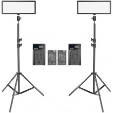 45112 Neewer 2x 144 pcs Dimmable Bi-color LED Video Light Kit with LCD Display