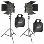 Neewer 2x 660 Pieces (330 White+3300 Yellow)  LED Video Light and Stands