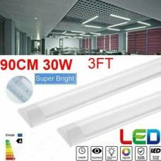 2812 90cm / 3FT LED Batten Tube Light Linear Ceiling Surface Mount Lamp Slim