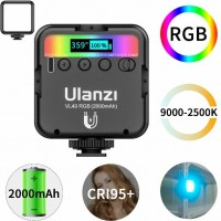 29326 Ulanzi VL49 Mini RGB LED Video Light 2000mAh Fill Light Phone Camera