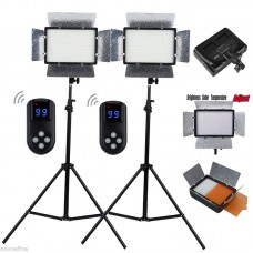 680S 2 x LED Photo Studio Video Light Panel 3200K/5500K Kit