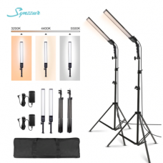 45111 2x 188 Led Photo Studio Dimmable Fill Light