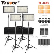 160 LED Video Lighting 4 Lamps Kit