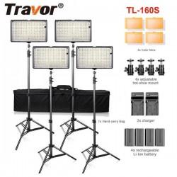 160 LED Video Lighting 4 Lamps Kit