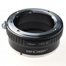 K&F Concept Lens Adapter Nikon-EOS.M