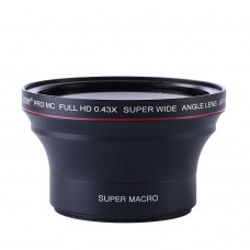 58mm HD 0.43x Wide Angle Lens