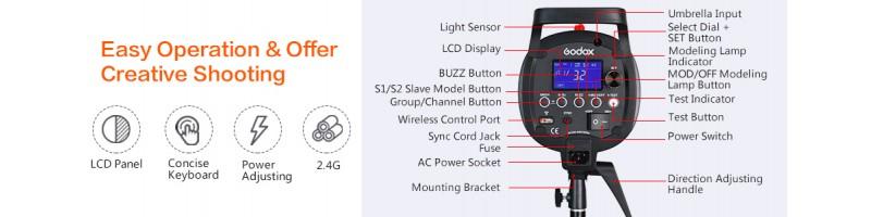 Godox QS600 II QS600II 600Ws Professional Studio Strobe