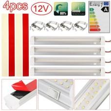 25132 4X 72 LED Interior Light Strip 12V Car Van Bus Caravan ON/OFF Switch